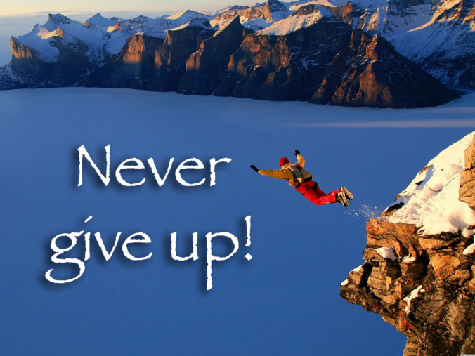 never give up positive motivation negative motivation
